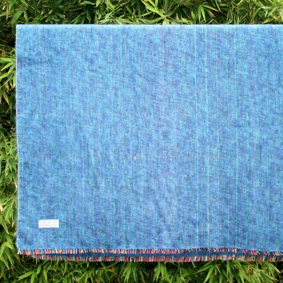 100% Alpaca Travel Blanket in Ocean-Home - Throws & Blankets-Cabin Measures-Très Elite