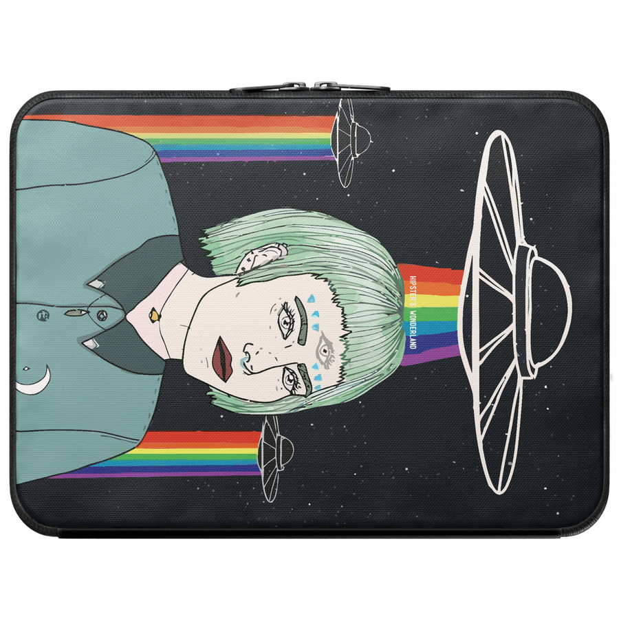 Alien Girl Laptop Sleeve-Women - Bags - Backpacks-Hipster's Wonderland-13 Macbook Pro-Très Fancy
