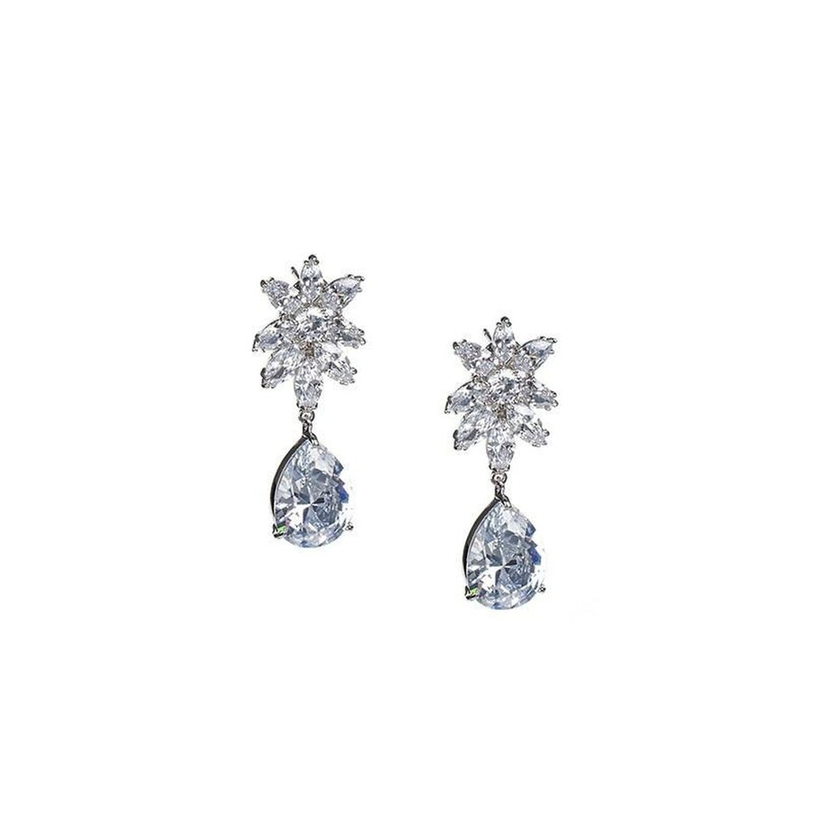 Pear and Marquise Drop Earrings-CZ by Kenneth Jay Lane-Très Fancy