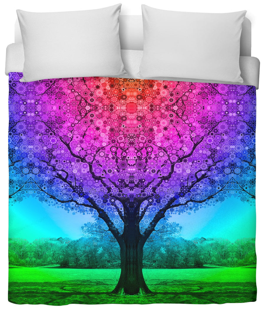 Star Tree Duvet Cover-Duvet Covers-LarryCarlson-Twin-Très Fancy