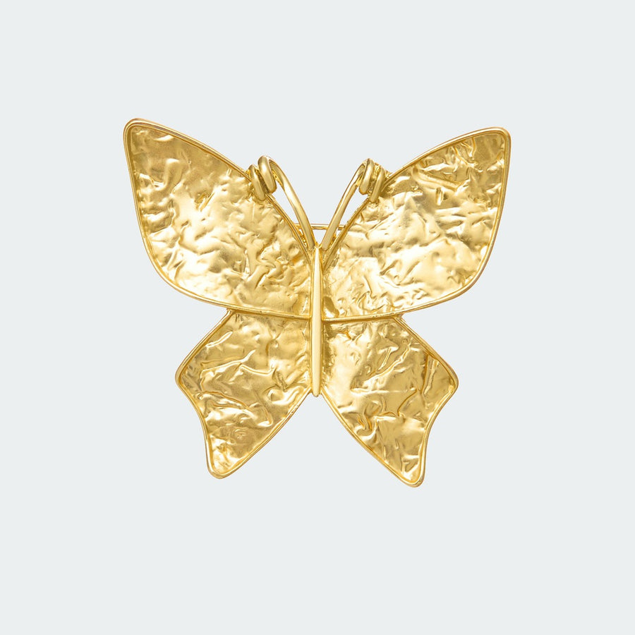 Gilded Butterfly Brooch-Women - Jewelry - Pins-Fashion Stories NYC-Très Fancy