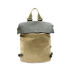 Faux Leather and Canvas Backpack-Women - Bags - Backpacks-Le Chic, LLC-Très Fancy