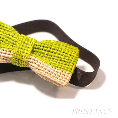 2/3 - Green Anise / Natural-Men - Accessories - Bow Ties-Victor Marie-Très Fancy