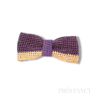 2/3 - Purple / Natural-Men - Accessories - Bow Ties-Victor Marie-Très Fancy