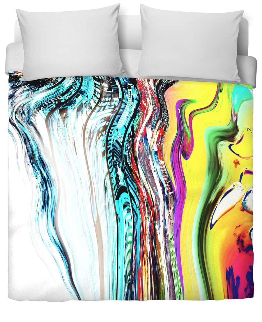 Slip And Slide Duvet Cover-Duvet Covers-FaceGlue-Twin-Très Fancy