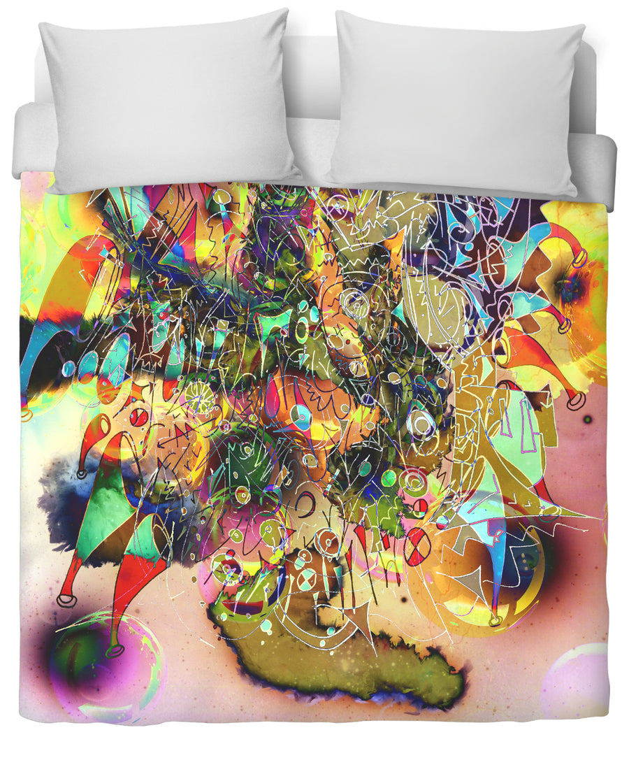 Face Melt Duvet Cover-Duvet Covers-FaceGlue-Twin-Très Fancy