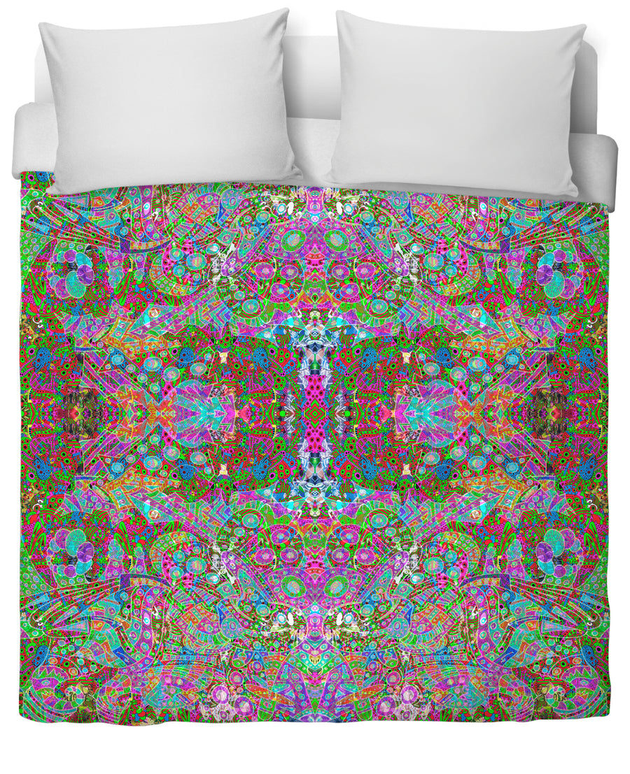 Hyperdimensional Wind 9 Duvet Cover-Duvet Covers-FaceGlue-Twin-Très Fancy