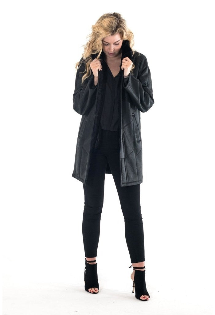 Agathe-Women - Apparel - Outerwear - Jackets-Boberck Since 1970-Black-34-Très Fancy