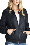 """The Quilted Classic"" Padded Bomber Jacket - Comes in 4 Colors-Women - Apparel - Outerwear - Puffer Coats-A Peace of Mind Jewelry & Boutique-Small-Très Fancy"