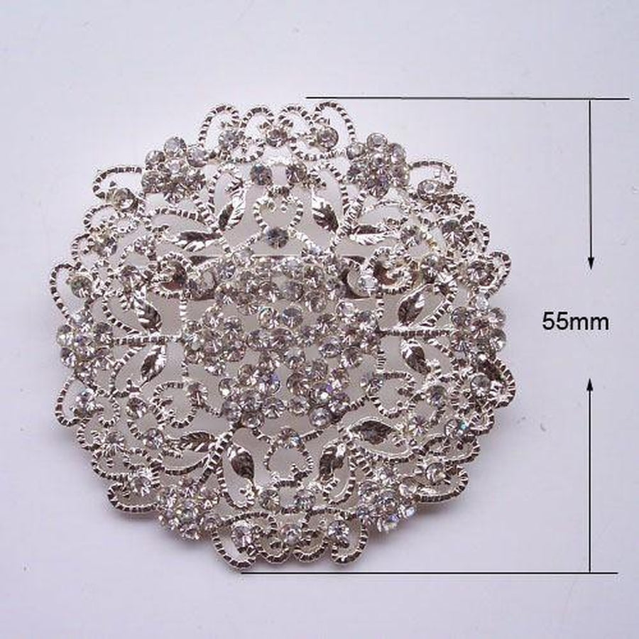 Super Trendy Brooch with Crystal Rhinestones-Women - Jewelry - Pins-Eleganz n Grace - The Style Shoppe-Très Fancy