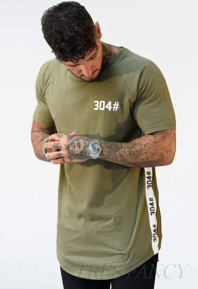 304 Essentials T Shirt, Gray-Men - Apparel - Shirts - T-Shirts-304# Clothing-Khaki-Small-Très Fancy