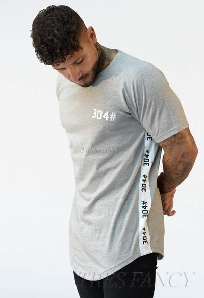 304 Essentials T Shirt, Gray-Men - Apparel - Shirts - T-Shirts-304# Clothing-Très Fancy