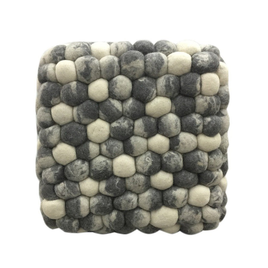 Handmade Woolen Pebble Pouf | Grey | GFURN-Home - Furniture-GFURN Design Furniture-Très Fancy