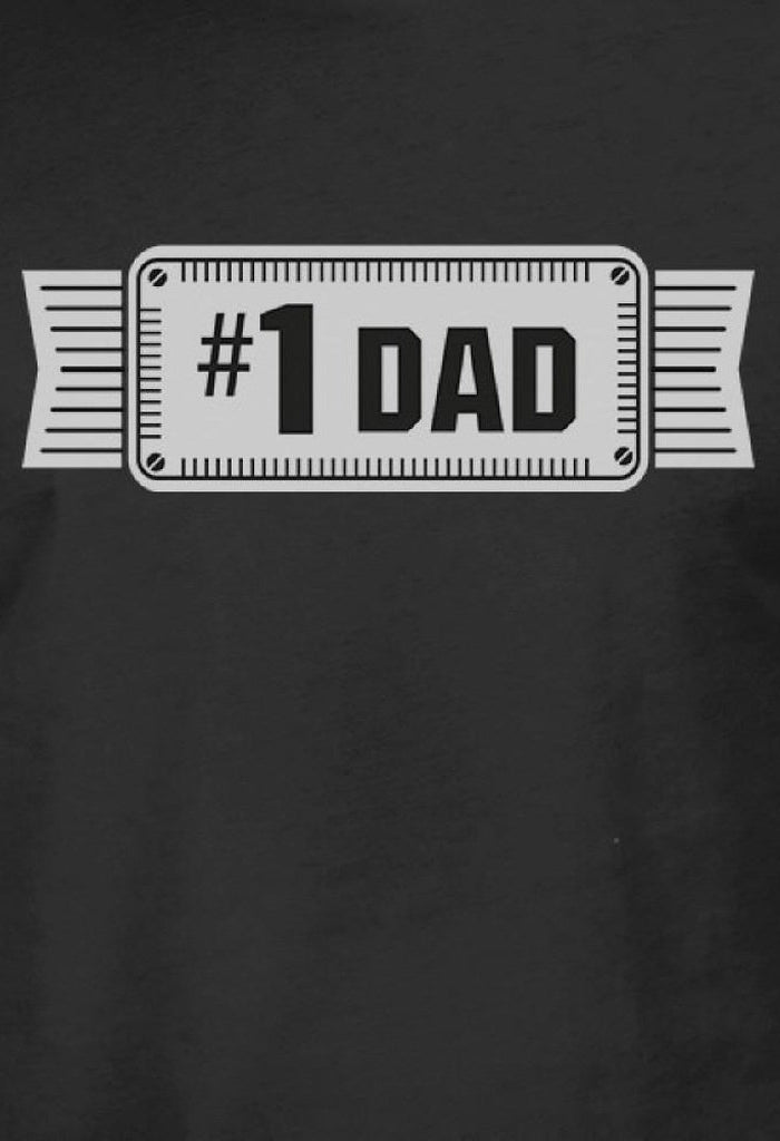 #1 Dad Mens Black Vintage Graphic Tee Funny Gifts For Fathers Day