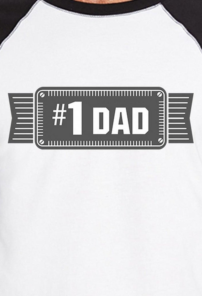 #1 Dad Mens Vintage Design Baseball T-Shirt Unique Gifts For Him-Men - Apparel - Shirts - T-Shirts-TSF Design-SMALL-Très Fancy