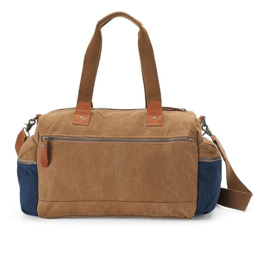 Mountain Wood Canvas Weekender