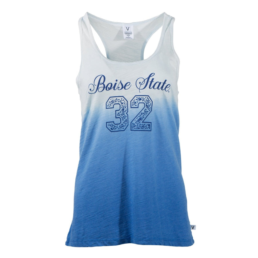 Official NCAA Boise State Broncos BSU Buster Bronco Women's Ombre Racerback Tank Top