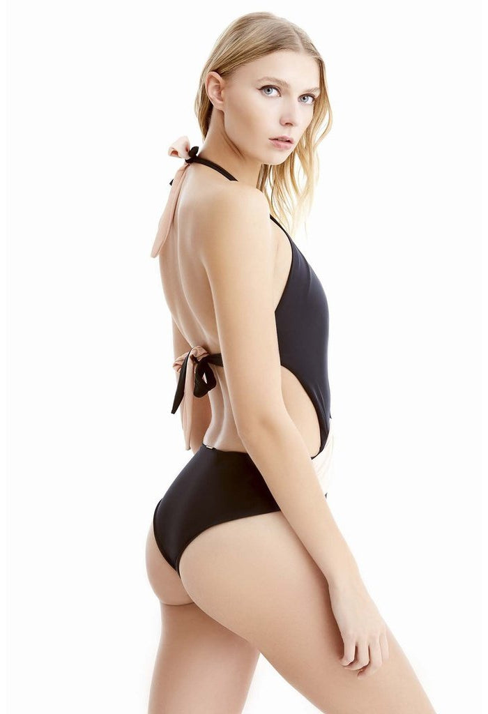 GISELLE BLACK AND ROSE ONE PIECE