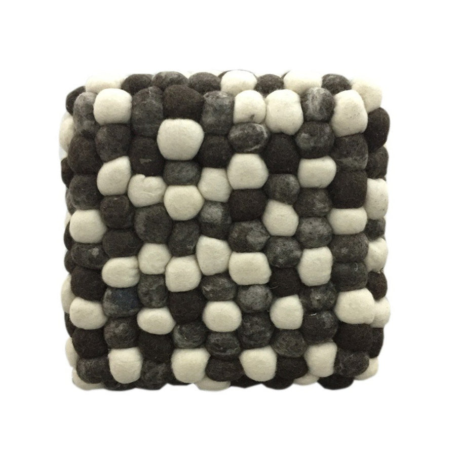 Handmade Woolen Pebble Pouf | Grey Dark | GFURN-Home - Furniture-GFURN Design Furniture-Très Fancy