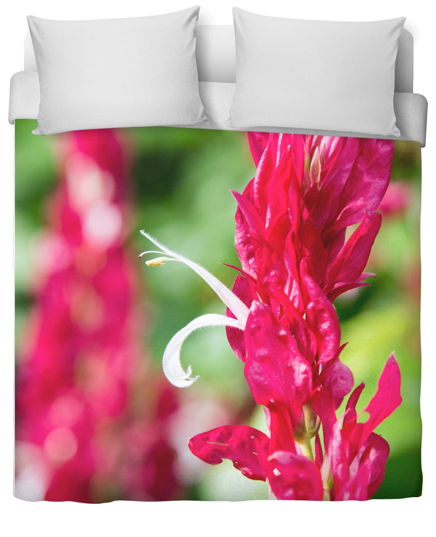 Caribbean Flower Duvet Cover-Duvet Covers-FaceGlue-Twin-Très Fancy