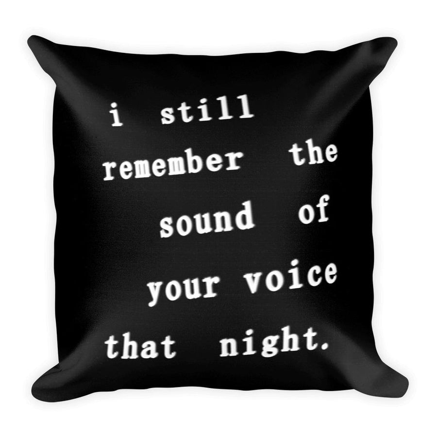 I Still Remember Square Pillow-Home - Pillows & Throws-Hipster's Wonderland-Très Fancy