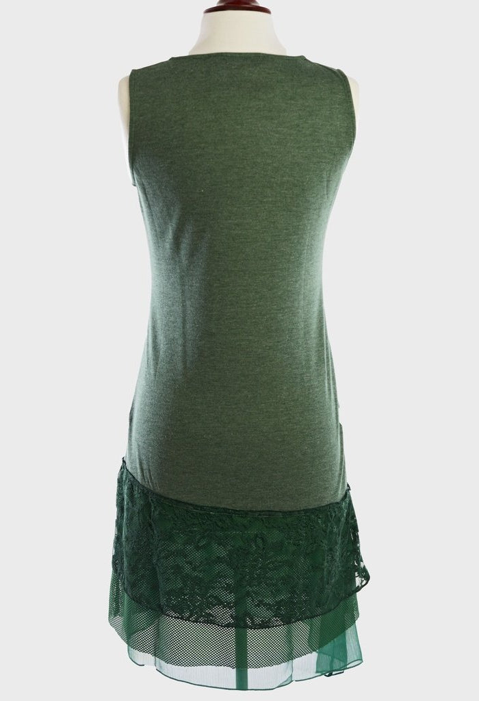 Y100-Green, knit dress-Women - Apparel - Dresses - Day to Night-Young Essence-Cream-S-Très Fancy