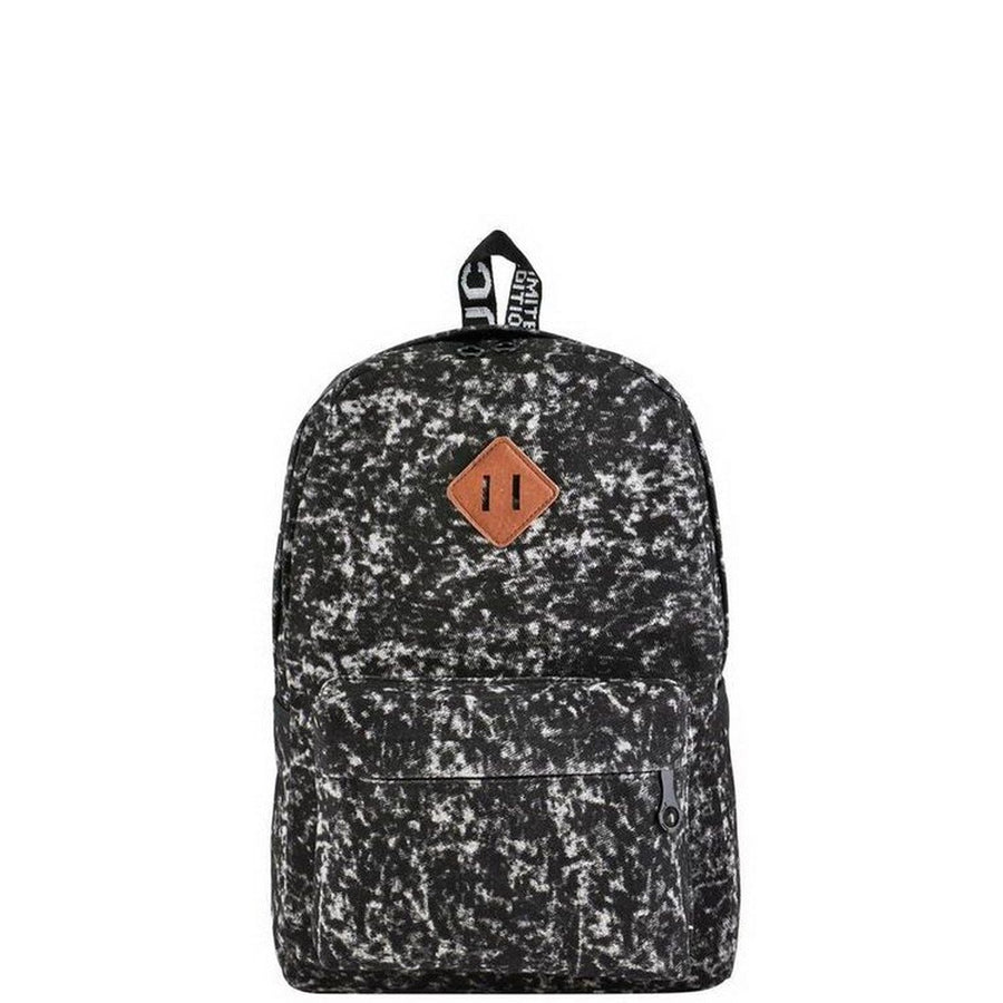 Black Acid Wash Backpack-Women - Bags - Backpacks-Le Chic, LLC-Très Fancy