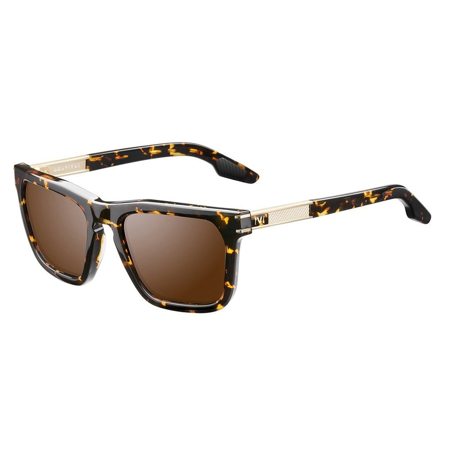 Gravitas: Polished Ambercomb Tortoise - Brushed Gold / Bronze AR Lens