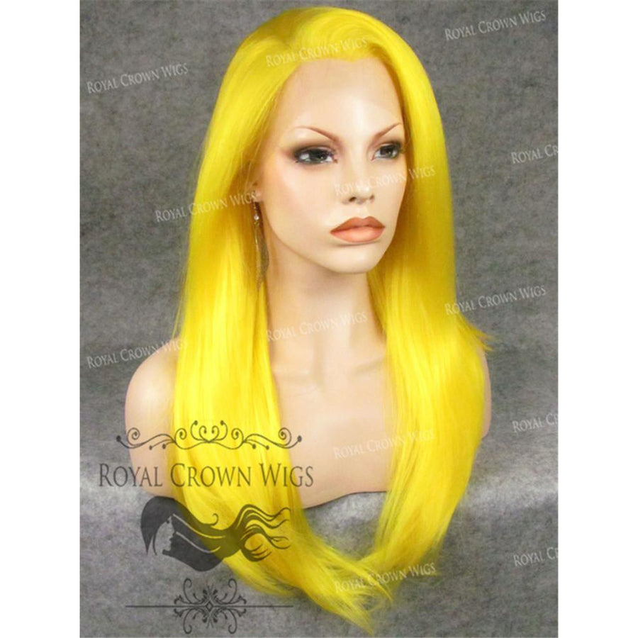 "24 inch Heat Safe Synthetic Straight Texture Lace Front ""Aphrodite"" in in Neon Yellow"