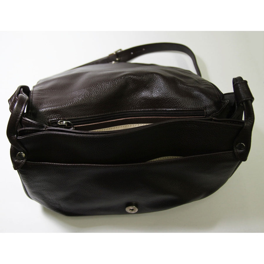 Real leather shoulder bag by MJ - Carried(worn) Bag supports real leather-Women - Bags - Satchels-MJ room-Très Fancy