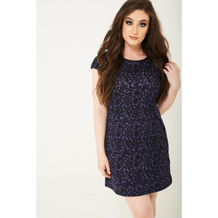 Lace Print Mini Dress Ex Brand