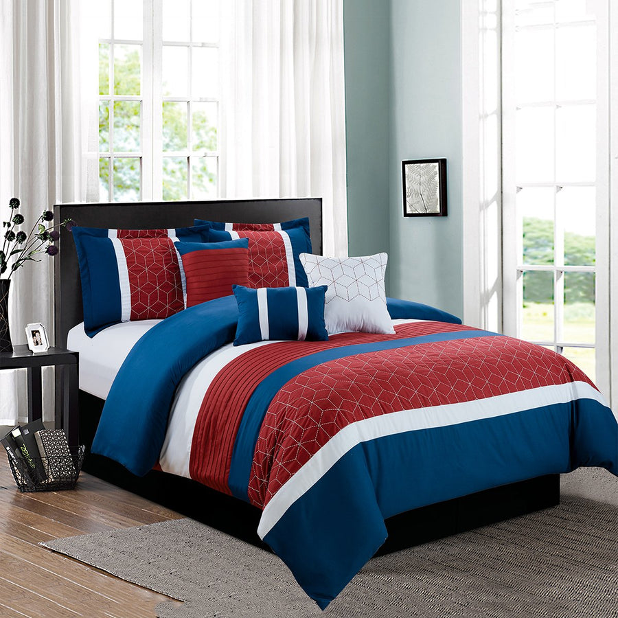 D&B Atlanta Collection - Luxury 7 Piece Comforter Set