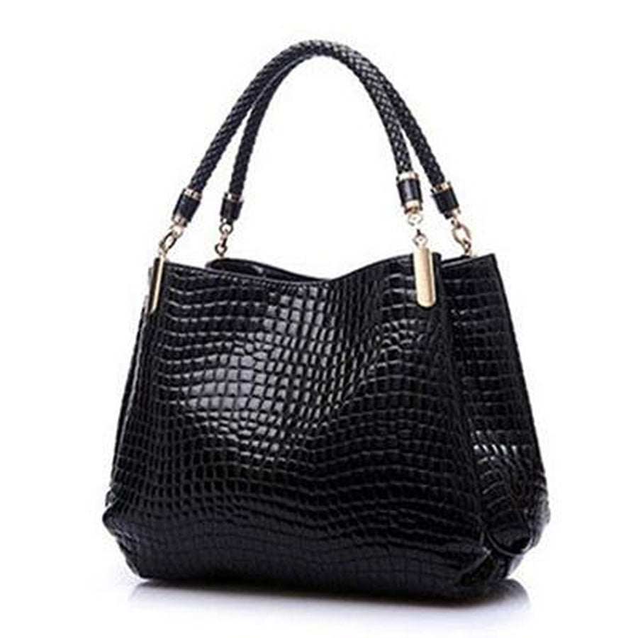 Alligator Leather-Like Women Handbag