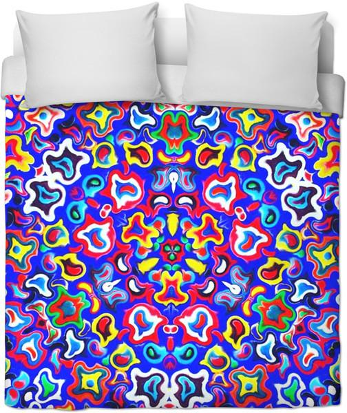 Fractal Fruit Duvet Cover-Duvet Covers-Psychedelia-Twin-Très Fancy