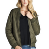 """The Quilted Classic"" Olive Padded Bomber Jacket-A Peace of Mind Jewelry & Boutique-Small-Très Fancy"