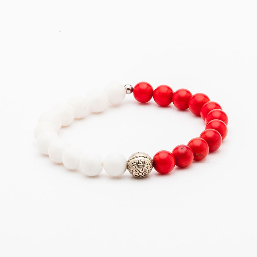 WHITE AND RED-Men - Jewelry - Bracelets-Dapper Homme-TRESFANCY