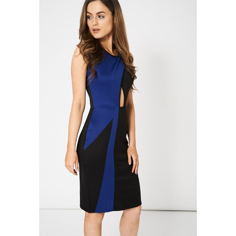Sleeveless Contrast Dress