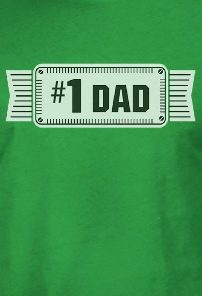 #1 Dad Mens Green Funny Fathers Day Graphic Shirt Unique Dad Gifts-Men - Apparel - Shirts - T-Shirts-TSF Design-SMALL-Très Fancy