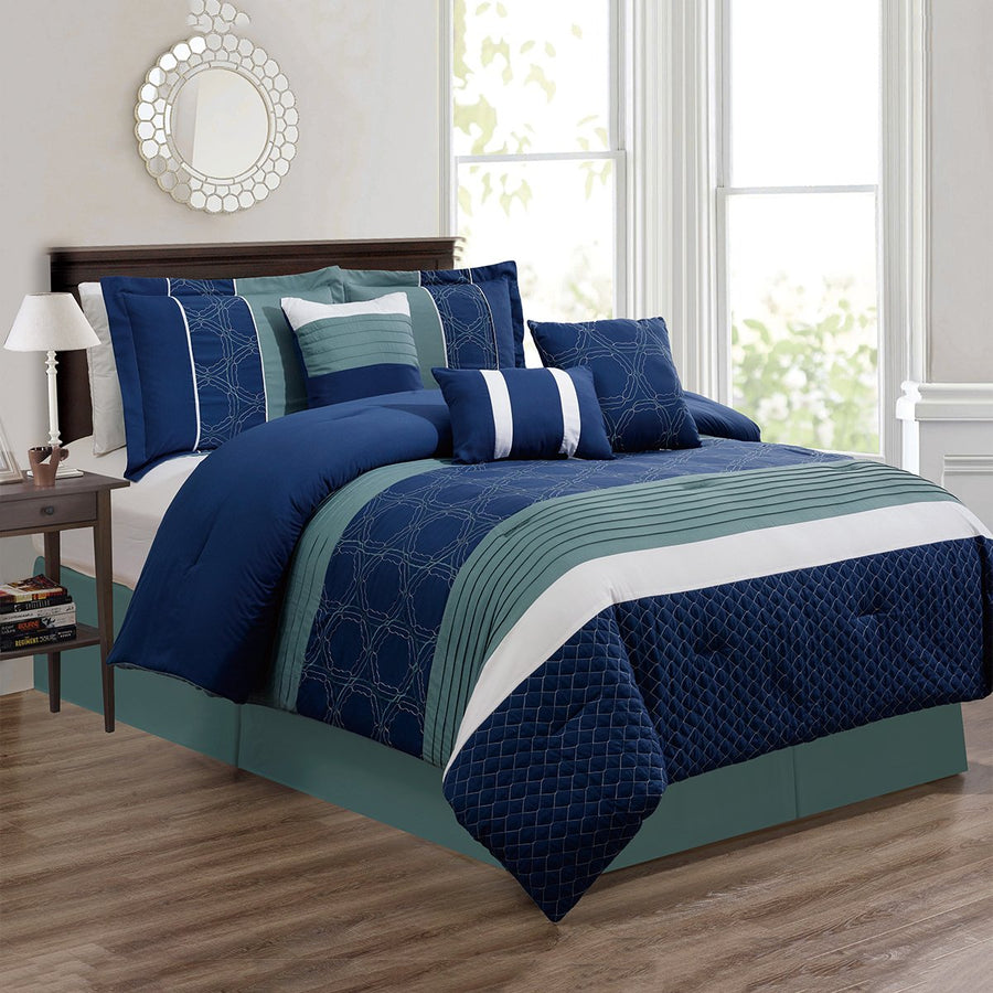 D&B Amanda Collection - Luxury 7 Piece Comforter Set