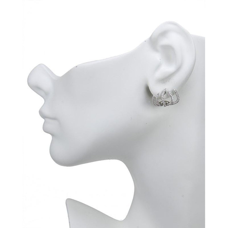 Pave Claw Earrings-CZ by Kenneth Jay Lane-Très Fancy