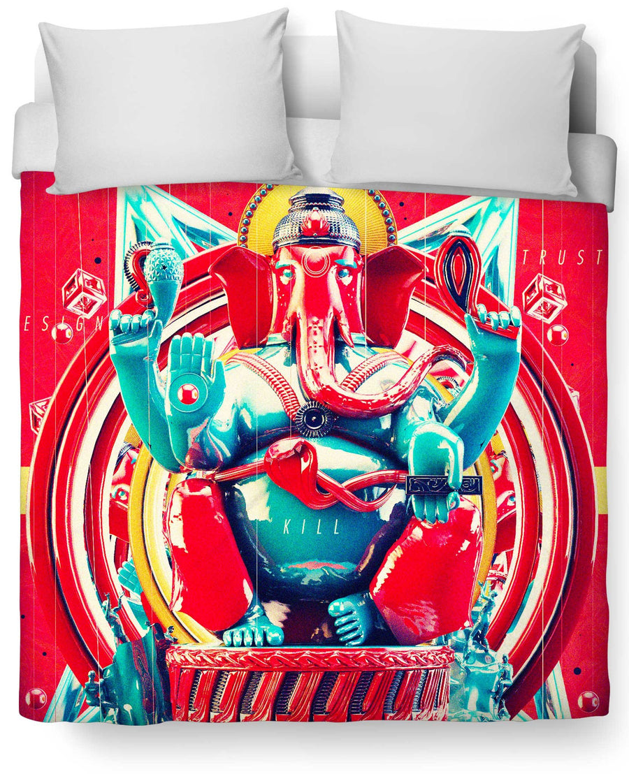 Elephant Kill Duvet Cover-Duvet Covers-UrbanThreads-Twin Size-Multi-Très Fancy