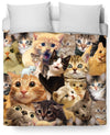 Surprised Cats Duvet Cover-Duvet Covers-LetsRage-Twin Size-Multi-Très Fancy
