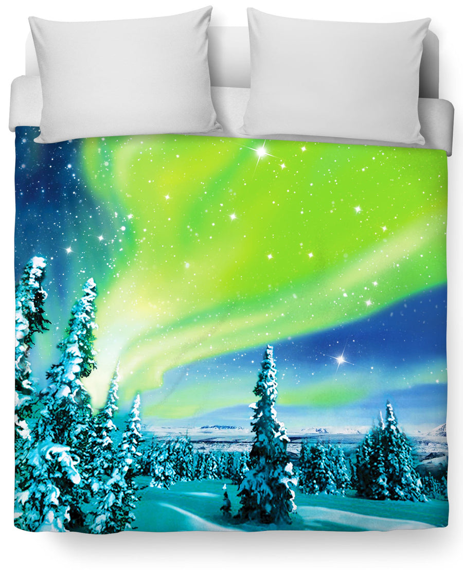 Arctic Nights Duvet Cover-Duvet Covers-Classics-Twin-Multi-Très Fancy