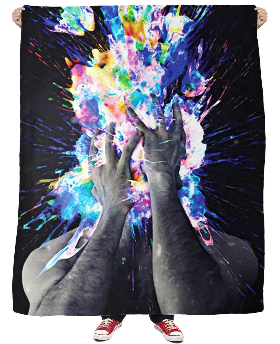 "Artistic Bomb Fleece Blanket-Blankets-LetsRage-50""x60""-Multi-Très Fancy"