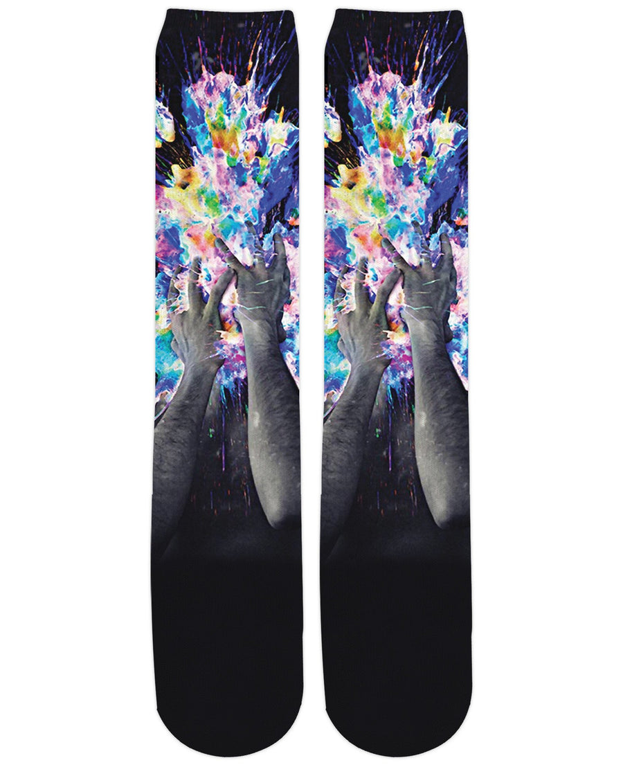 Artistic Bomb Knee-High Socks-Knee-High Socks-LetsRage-One Size-Multi-Très Fancy
