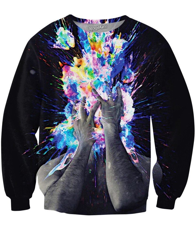 Artistic Bomb Crewneck Sweatshirt-Sweatshirts-LetsRage-X-Small-Multi-Très Fancy
