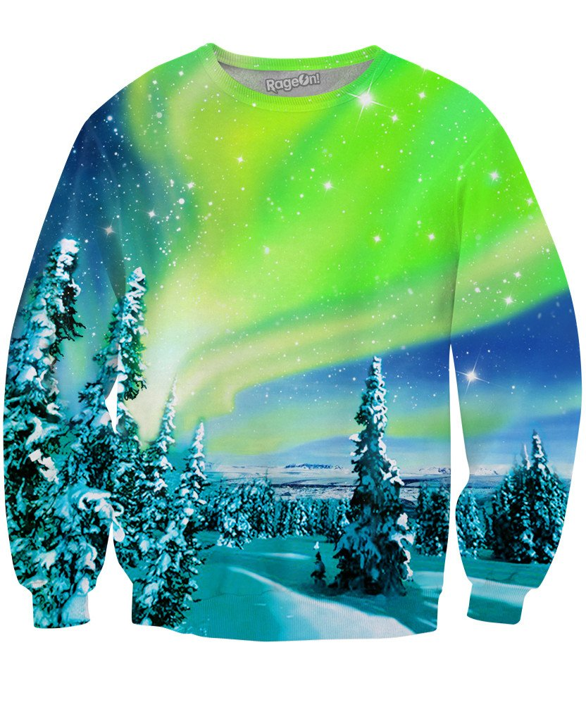 Arctic Nights Crewneck Sweatshirt-Sweatshirts-Classics-X-Small-Multi-Très Fancy
