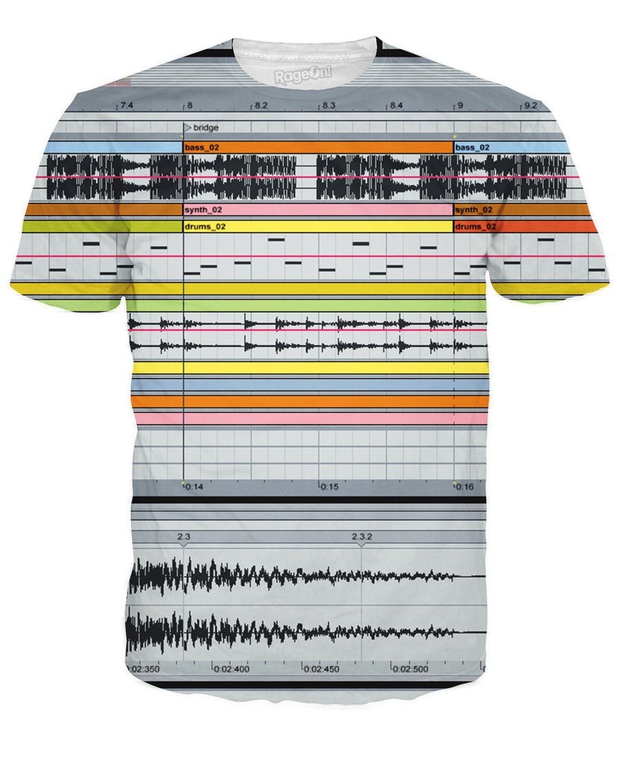 Ableton Live T-Shirt-T-Shirts-LetsRage-X-Small-Ultra Premium-Multi-Très Fancy