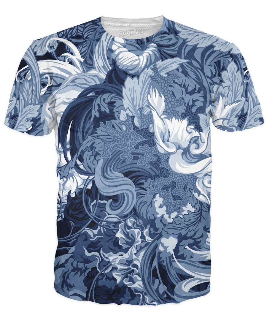Abundantia Blue T-Shirt-T-Shirts-JamesRoper-X-Small-Ultra Premium-Multi-Très Fancy