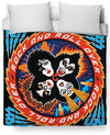 Rock And Roll Over Duvet Cover-Duvet Covers-KISS-Twin Size-Multi-Très Fancy
